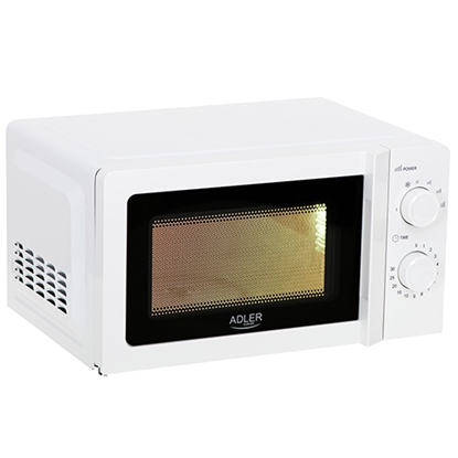 Изображение Adler Microwave Oven AD 6205 Free standing, 700 W, White, 5, Defrost, 20 L