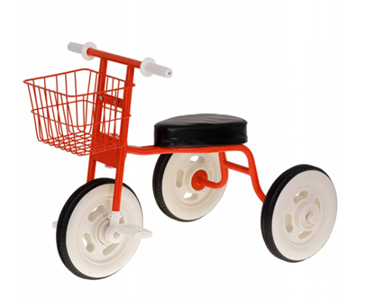 Изображение Kidwell Retro Balance Tricycle with Basket Red
