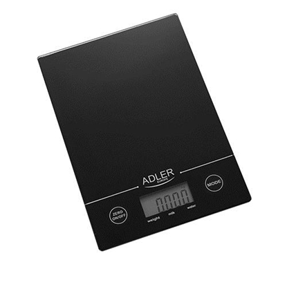 Picture of Adler AD 3138 b Mechanical kitchen scale Black Countertop Rectangle