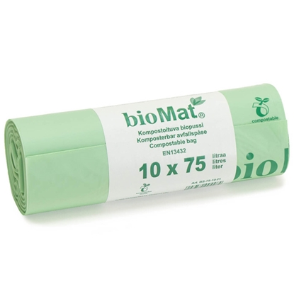 Attēls no Atkritumu maisi Biomat 75l 10gab.