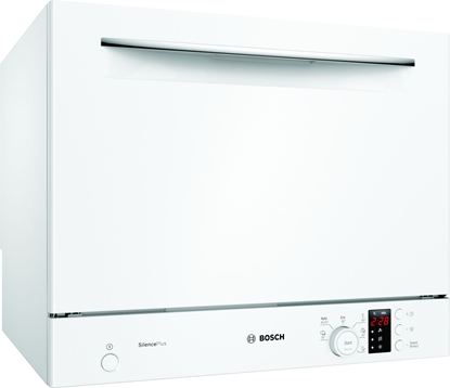 Изображение Bosch Dishwasher SKS62E32EU Table, Width 55 cm, Number of place settings 6, Number of programs 6, Energy efficiency class F, Display, AquaStop function, White