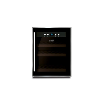 Picture of Caso Wine cooler WineSafe 12 Energy efficiency class G, Free Standing, Bottles capacity Up to 12 bottles, Cooling type Compressor technology, Black
