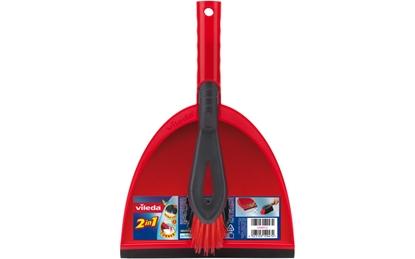 Изображение Vileda 141743 dustpan/dustpan set Black, Red Dust pan & brush set