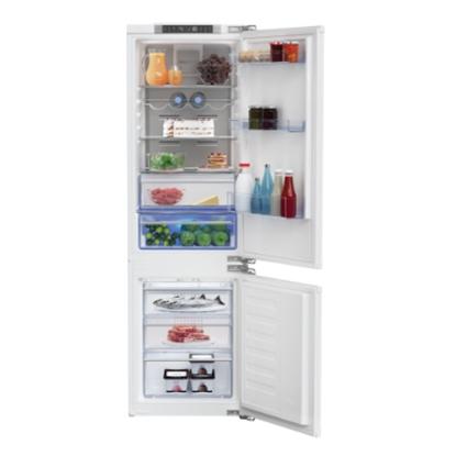 Изображение BEKO Refrigerator BCNA275E4FN Built In, 177.5 cm, Energy class E (old A++), Inverter Compressor, HarvestFresh, Neo Frost, Metal Wall