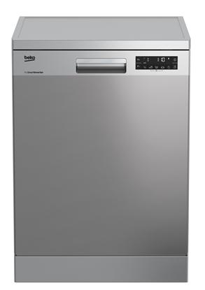 Изображение BEKO Dishwasher DFN26422X, Energy class E (old A++), 60 cm, Freestanding, Inverter motor, Aquaintense, Inox