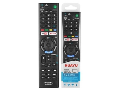 Picture of HQ LXH1370 TV remote control SONY LCD / LED / 3D / Netflix RM-L1370 / Black