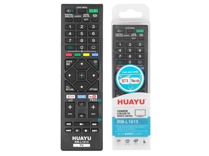 Picture of HQ LXH1615 TV remote control SONY LCD / LED / Netflix RM-L1615 / Black