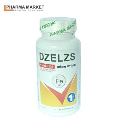 Изображение PMS Uztura bagātinātājs Dzelzs komplekss ar vitamīniem un minerālvielām N30 tabletes