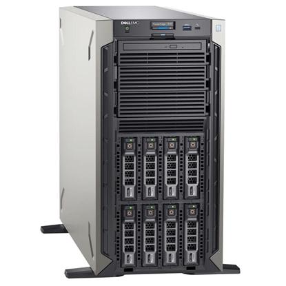 "Picture of Dell PowerEdge T340 Tower, Intel Xeon, E-2224, 3.4 GHz, 8 MB, 4T, 4C, 1x16 GB, UDIMM DDR4, 2666 MHz, 1000 GB, Up to 8 x 3.5"", Hot-swap hard drive bays, PERC H330, Single, Hot-plug, Power supply 495 W, iDRAC9 Basic, No Rails, No OS, Warranty Basic Onsite 3"