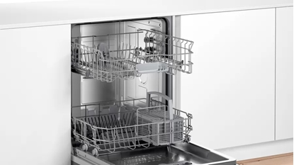 Изображение Bosch Serie 2 Dishwasher SGV2ITX22E Built-in, Width 60 cm, Number of place settings 12, Number of programs 4, Energy efficiency class E, Display, AquaStop function, White